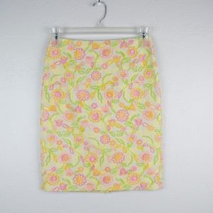 Cynthia Steefe Embroidered Floral Skirt Size 2
